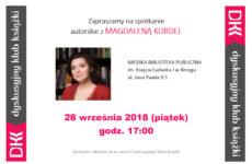 Więcej o: Spotkanie z Magdaleną Kordel