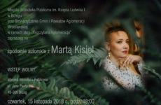 Więcej o: Spotkanie autorskie z Martą Kisiel